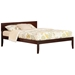 Orlando Traditional Bed with Open Footrails - Antique Walnut - AR81X1034