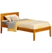 Orlando Traditional Bed with Open Footrails - Caramel Latte - AR81X1037