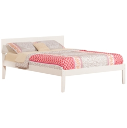 Orlando Traditional Bed with Open Footrails - White Orlando Traditional Bed with Open Footrails - White