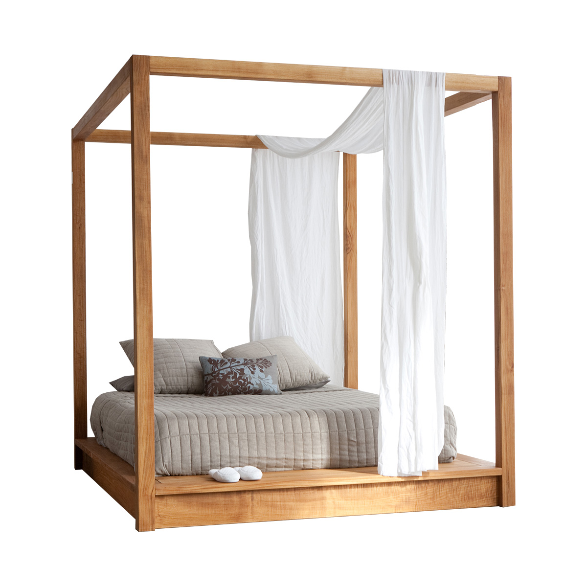 Pch series canopy platform bed for Beds 4 sale