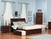 Portland Platform Bed with Flat Panel Footboard - Antique Walnut - AR89X2X14