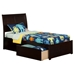 Portland Platform Bed with Flat Panel Footboard - Espresso - AR89X2X11