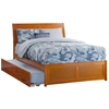 Portland Platform Bed with Matching Footboard - Caramel Latte Portland Platform Bed with Matching Footboard - Caramel Latte