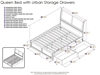 Portland Platform Bed with Matching Footboard - Caramel Latte - AR89X6X17