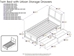Portland Platform Bed with Matching Footboard - White - AR89X6X12