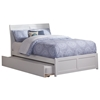 Portland Platform Bed with Matching Footboard - White Portland Platform Bed with Matching Footboard - White