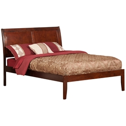 Portland Platform Bed with Open Footrails - Antique Walnut Portland Platform Bed with Open Footrails - Antique Walnut