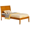 Portland Platform Bed with Open Footrails - Caramel Latte Portland Platform Bed with Open Footrails - Caramel Latte