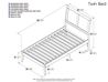 Portland Platform Bed with Open Footrails - Espresso - AR89X1001
