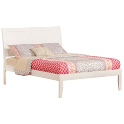 Portland Platform Bed with Open Footrails - White Portland Platform Bed with Open Footrails - White