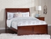 Portland Traditional Bed with Matching Footboard - Antique Walnut - AR89X6034