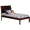 Portland Traditional Bed with Open Footrails - Antique Walnut Portland Traditional Bed with Open Footrails - Antique Walnut