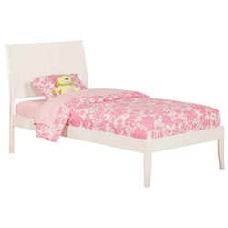 Portland Traditional Bed with Open Footrails - White Portland Traditional Bed with Open Footrails - White