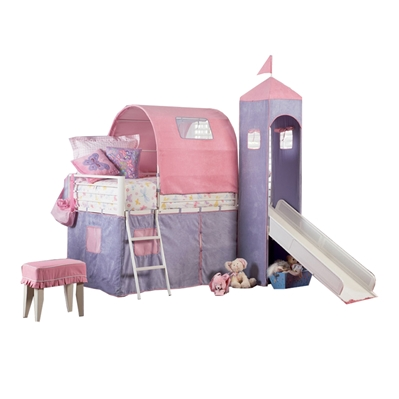 Princess Madeleine Tent Bunk Bed Give your little girl the castle she deserves with the Princess Madeleine Tent Bunk Bed!