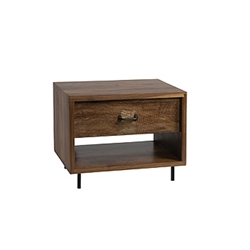 Randy Nightstand Blending traditional with modern, the Randy Nightstand matches nearly all of our wood bed frames with ease.