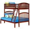 Richland Twin/Full Bunk Bed - Antique Walnut AB64204 Richland Twin/Twin Bunk Bed - Antique Walnut AB64204