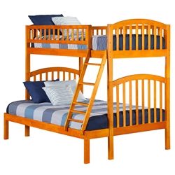 Richland Twin/Full Bunk Bed - Caramel Latte AB64207 Richland Twin/Twin Bunk Bed - Caramel Latte AB64207