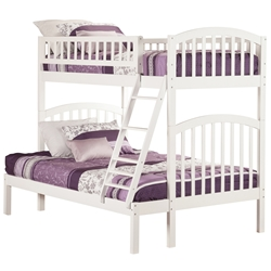 Richland Twin/Full Bunk Bed - White AB64202 Richland Twin/Twin Bunk Bed - White AB64202
