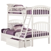 Richland Twin/Full Bunk Bed - White AB64202 - AB64202
