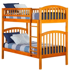Richland Twin/Twin Bunk Bed - Caramel Latte AB64107 Richland Twin/Twin Bunk Bed - Caramel Latte AB64107