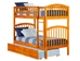 Richland Twin/Twin Bunk Bed - Caramel Latte AB64107 - AB64107