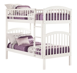 Richland Twin/Twin Bunk Bed - White AB64102 Richland Twin/Twin Bunk Bed - White AB64102