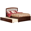 Richmond Platform Bed with Flat Panel Footboard - Antique Walnut - AR88X2X14