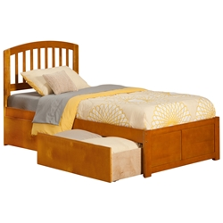 Richmond Platform Bed with Flat Panel Footboard - Caramel Latte Richmond Platform Bed with Flat Panel Footboard - Caramel Latte