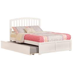 Richmond Platform Bed with Flat Panel Footboard - White Richmond Platform Bed with Flat Panel Footboard - White