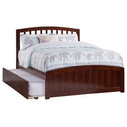 Richmond Platform Bed with Matching Footboard - Antique Walnut Richmond Platform Bed with Matching Footboard - Antique Walnut