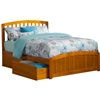 Richmond Platform Bed with Matching Footboard - Caramel Latte Richmond Platform Bed with Matching Footboard - Caramel Latte