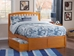 Richmond Platform Bed with Matching Footboard - Caramel Latte - AR88X6X17