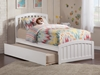 Richmond Platform Bed with Matching Footboard - White - AR88X6X12
