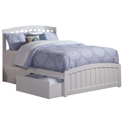 Richmond Platform Bed with Matching Footboard - White Richmond Platform Bed with Matching Footboard - White
