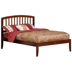 Richmond Platform Bed with Open Footrails - Antique Walnut Richmond Platform Bed with Open Footrails - Antique Walnut