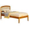Richmond Platform Bed with Open Footrails - Caramel Latte Richmond Platform Bed with Open Footrails - Caramel Latte