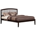 Richmond Platform Bed with Open Footrails - Espresso - AR88X100X1