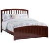 Richmond Traditional Bed with Matching Footrails - Antique Walnut - AR88X6034