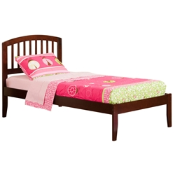 Richmond Traditional Bed with Open Footrails - Antique Walnut Richmond Traditional Bed with Open Footrails - Antique Walnut