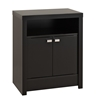 Series 9 2-Door Tall Nightstand - Black BDNH-0502-1 Series 9 2-Door Tall Nightstand - Black BDNH-0502-1