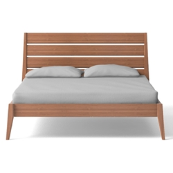 Sienna Platform Bed - Caramelized sienna, platform, bed, caramelized, g0090ca