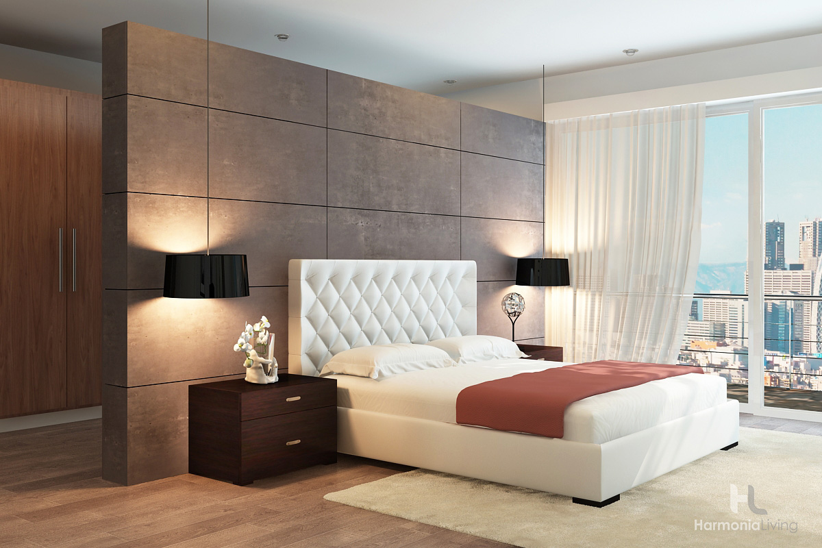 society platform bed luxury upholstered bedroom modern design style fashionable stylish
