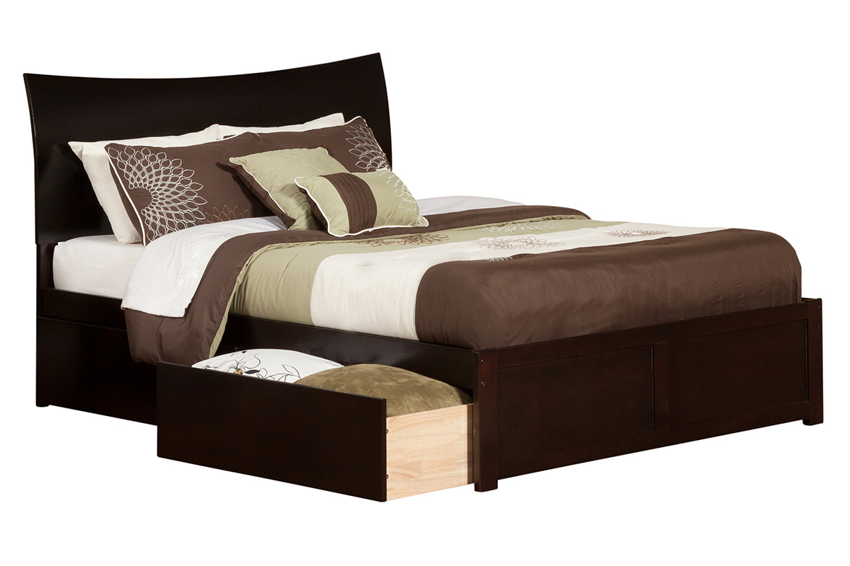 Soho White Leather Bed Twin