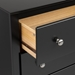 Sonoma 2-Drawer Tall Nightstand - Black BDC-2428 - BDC-2428