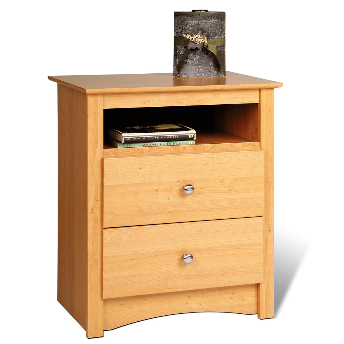 sonoma 2 drawer tall nightstand maple mdc 2428. Black Bedroom Furniture Sets. Home Design Ideas