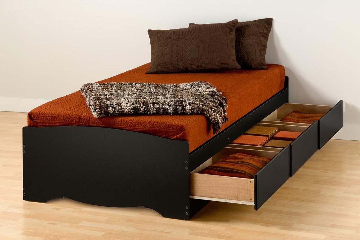 Storage Platform Bed Black Bbt 4100 2k