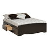 Storage Platform Bed - Black Storage Platform Bed - Black