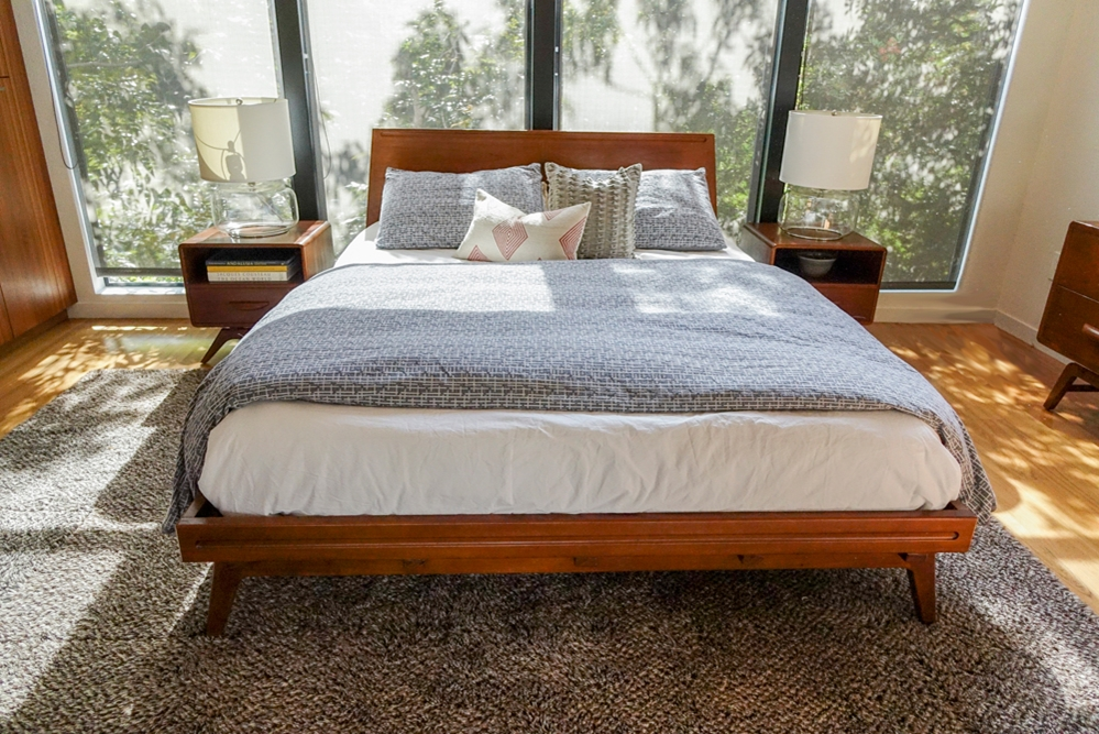 wood platform bed frame full tango solid tan mi cl king twin with drawers