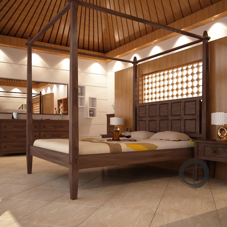 Tropical Canopy Platform Bed Canopy Bed