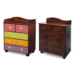 Tropical Seas 5-Drawer Chest - Chocolate RM15-TSD Tropical Seas 5-Drawer Chest - Chocolate RM15-TSD